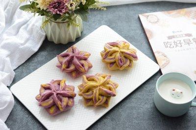 彩色花式豆沙包