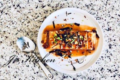 简单风味家常菜香煎豆腐