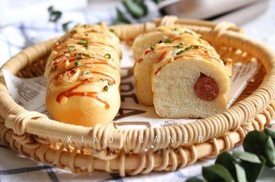 香葱芝士火腿面包