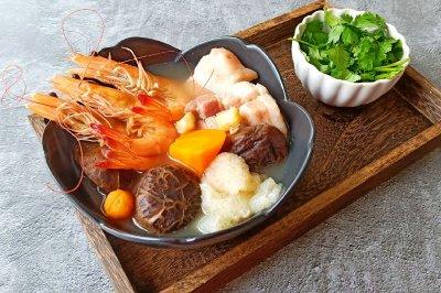 五福临门鲜虾咸肉汤
