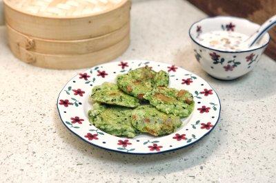 菠菜米饭煎饼