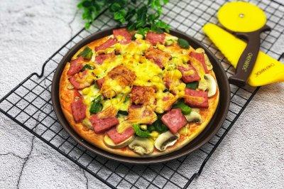 蔬菜火腿披萨