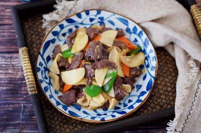 牛肉炒杏鲍菇
