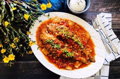 茄汁大黄鱼焖豆腐