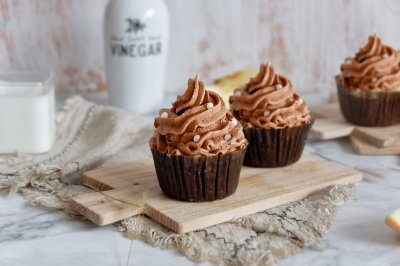 巧克力奶油杯子蛋糕