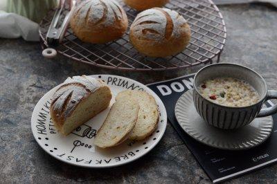 汤种法糖渍橙皮面包