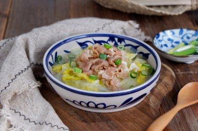 羊肉卷白菜锅