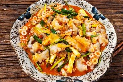 韩式辣拌活章鱼