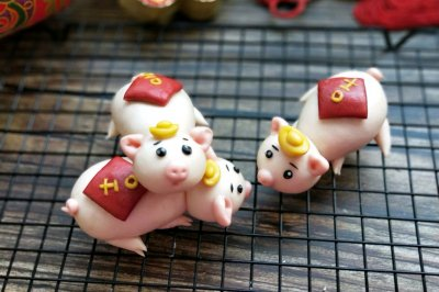 原创面食吉祥小猪馒头