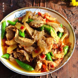 青椒姜母鸡