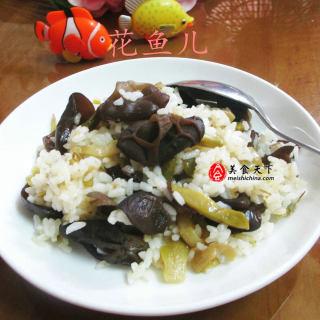 榨菜丝黑木耳炒饭