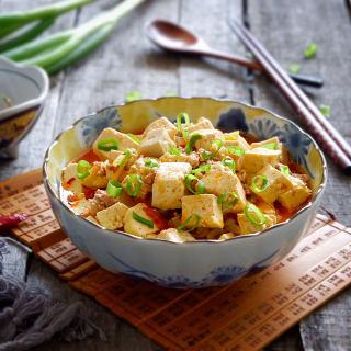 榨菜肉末烩豆腐