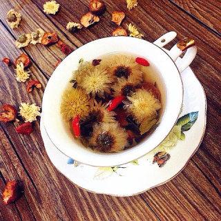 夏日降火清脂菊花山楂绿茶
