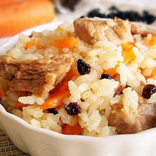 胡萝卜羊肉饭