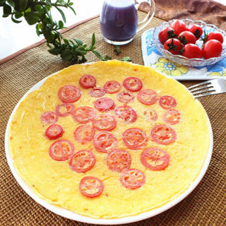 小番茄煎蛋饼