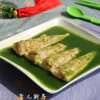 翡翠虾滑�|竹笋