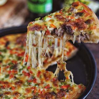 牛肉彩椒披萨