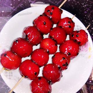 百香果酱冰糖葫芦