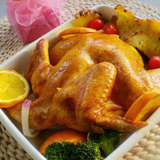 柚蜜凤梨烤鸡