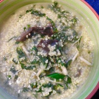 海参荠菜小米粥
