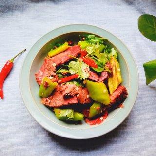 青椒拌驴肉
