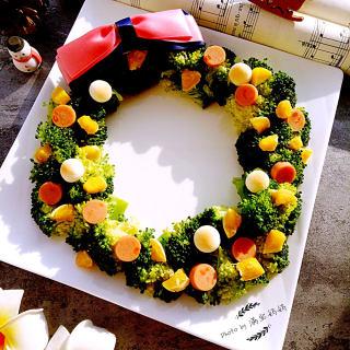 西兰花圣诞花环