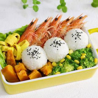 鲜虾时蔬饭团便当