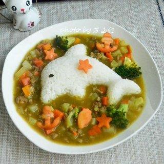 咖喱土豆牛肉拌饭
