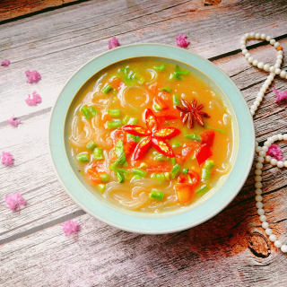 西红柿豆角咸汤