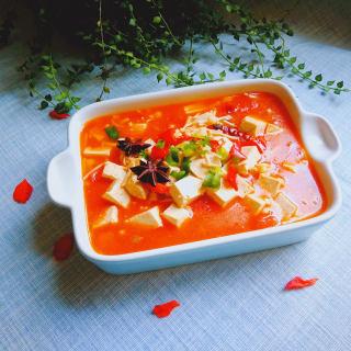 蕃茄金针菇炖豆腐