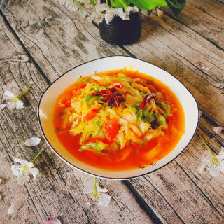 番茄卷心菜