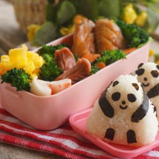 熊猫造型饭团便当