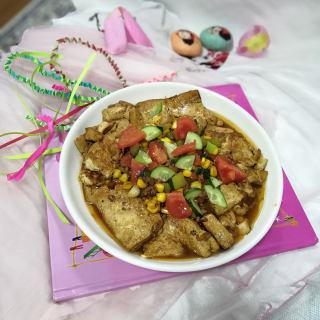 家常玉米豆腐