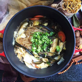 白菜海带素锅