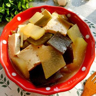 冬瓜海带炖豆腐