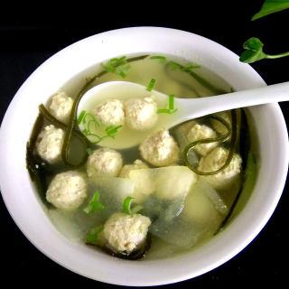 海带冬瓜鸡丸汤
