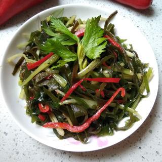 芹菜拌海带