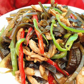 蚝油肉丝海带