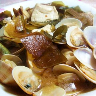蛤蜊豆腐海带汤煲
