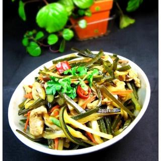 黄豆酱炒海带白菜