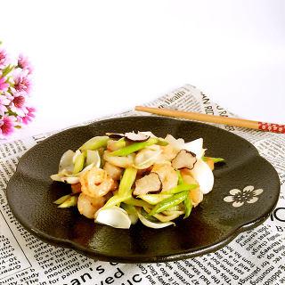 百合芦笋炒虾仁
