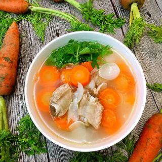 百合排骨胡萝卜汤