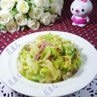 咸肉千张炒圆白菜