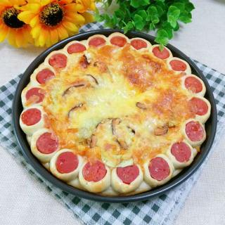 玉米鲜虾香菇披萨