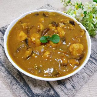 咖喱土豆香菇鸡肉丸