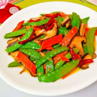 清炒香菇四季豆