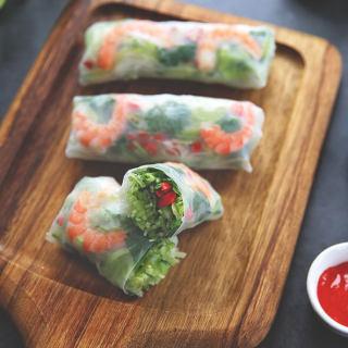 蔬菜海鲜春卷