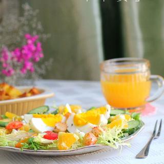 鸡蛋虾仁沙拉
