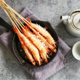 海盐烤海虾