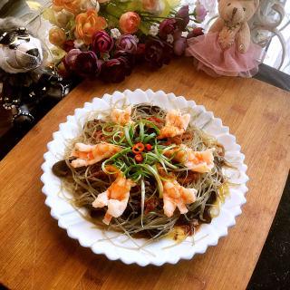 剁椒粉条蒸虾花